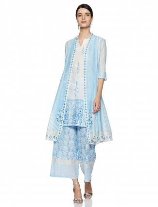 W blue color casual wear kurti