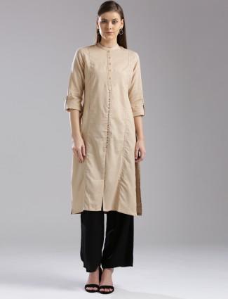 W cotton beige kurti