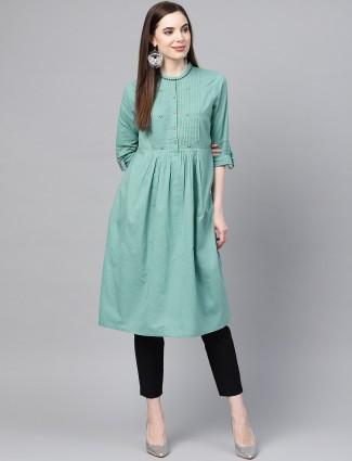 W green hue cotton kurti