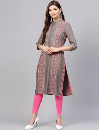 W presented grey colored festive kurti