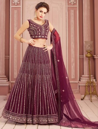 Wedding lehenga choli in maroon