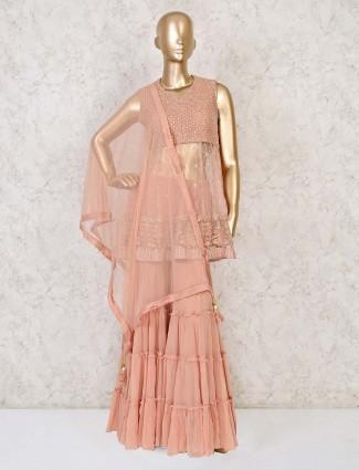 Wedding wear designer net sharara salwar kameez