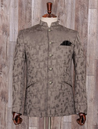 Wedding wear grey jodhpuri suit