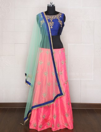 Wedding wear pink designer lehenga choli