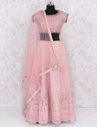 Wedding wear pink hued lehenga choli