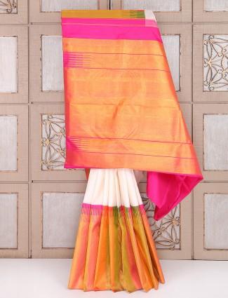 White color bridal wear saree