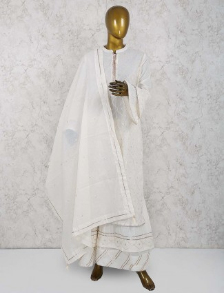 White color cotton sharara suit