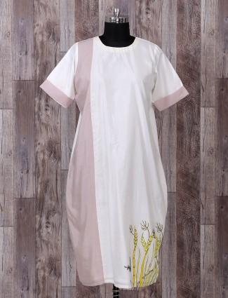 White color festive wear silk palazzo suit