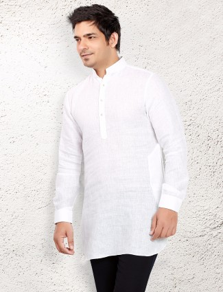 White line solid short pathani
