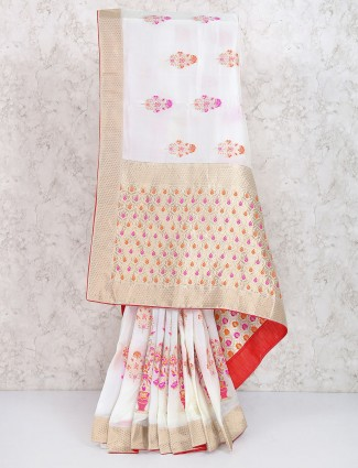 010 Muga Banarasi Silk Saree with Embroidered Blouse - YouTube