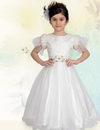 White net floor length designer gown
