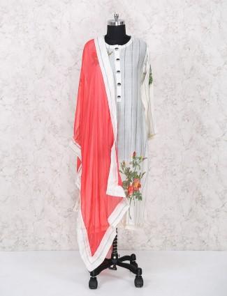 White punjabi palazzo suit