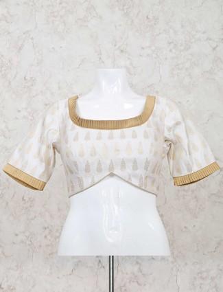White ready made silk blouse