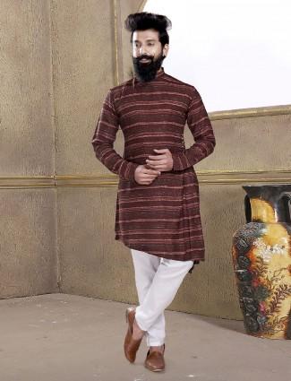 Wine maroon color kurta suit