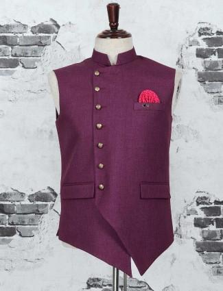 Wine purple party waistcoat