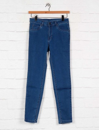 Women denim jeans in blue color