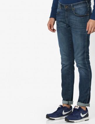 Wrangler denim blue color jeans