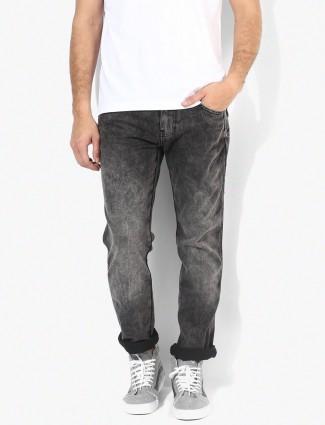 Wrangler denim plain grey jeans