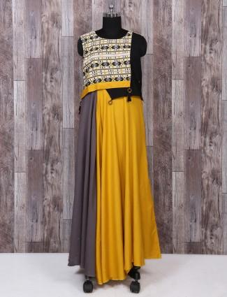 Yellow color festive wear kurti