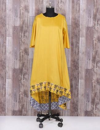 Yellow color simple punjabi suit