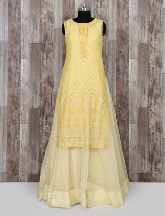 Yellow color wedding wear salwar suit