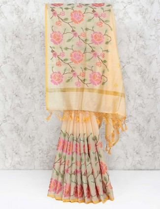 Yellow hue amazing saree