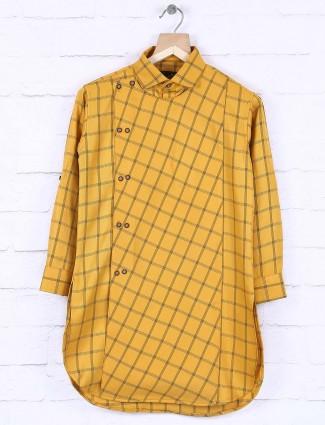 Yellow hue festive wear kurta for boys