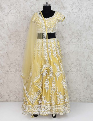 Yellow hue pretty lehenga choli