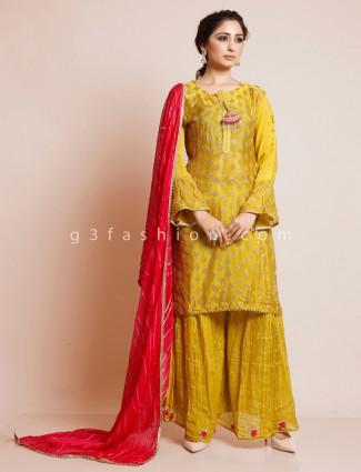 Yellow punjabi style salwar suit