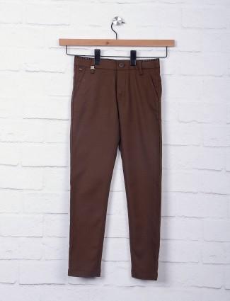 Zillian brown hue cotton trouser