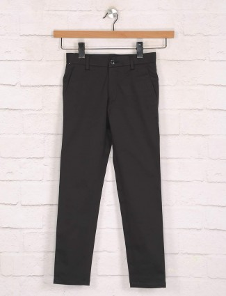 Zillian casual wear black cotton trouser