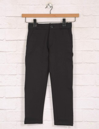 Zillian casual wear solid black trouser