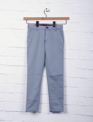 Zillian cotton fabric grey trouser
