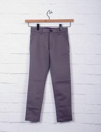 Zillian grey slim fit boys trouser