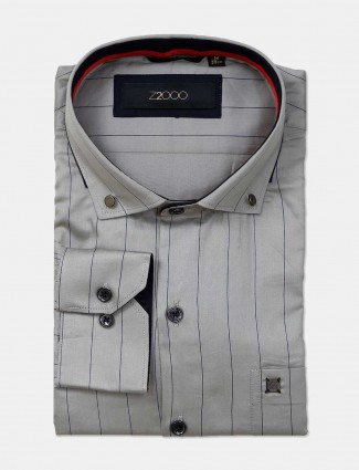 Zillian grey stripe patern formal shirt