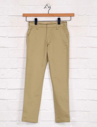 Zillian khaki boys trouser in cotton