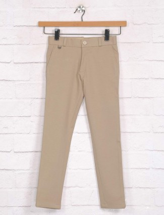 Zillian khaki trouser in cotton for boys