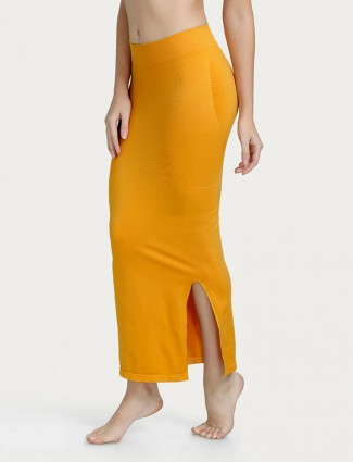 Zivame Saree Shape Wear mustard yellow Lycra Petticoat