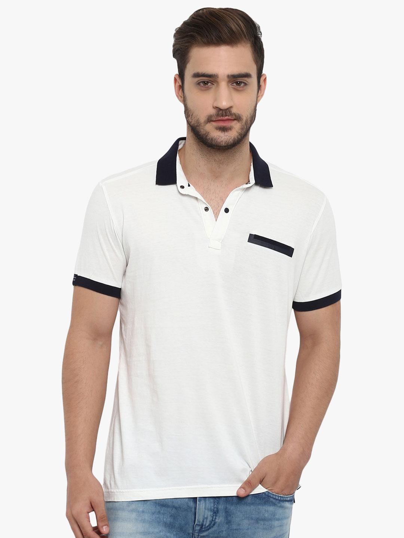 7bf1e8fcbb Mufti presented white solid casual t-shirt - G3-MTS8001 | G3fashion.com