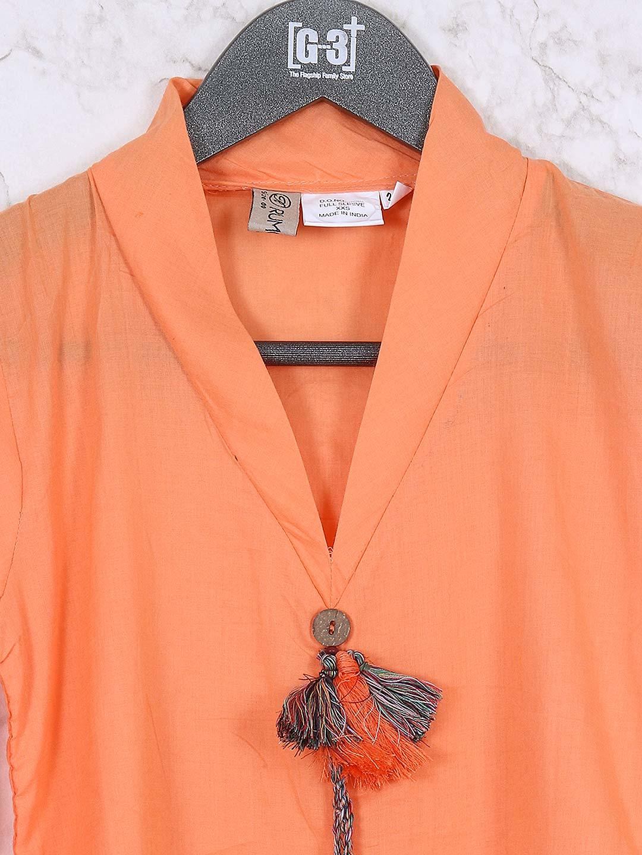 83b33213c91 Orange Hue Designer Girls Top. Hover to zoom