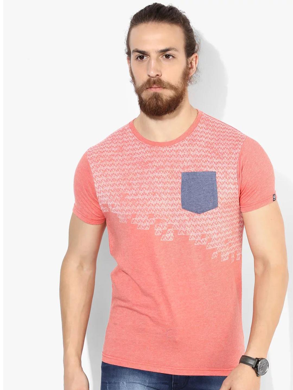 Pepe Jeans peach cotton t shirt - G3-MTS4341 | G3fashion.com