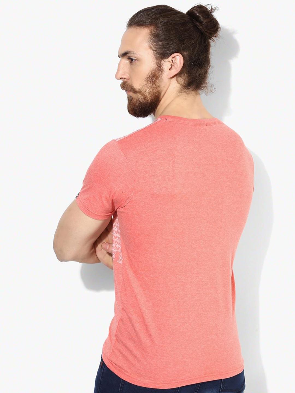 pepe jeans peach cotton t shirt g3 mts4341. Black Bedroom Furniture Sets. Home Design Ideas