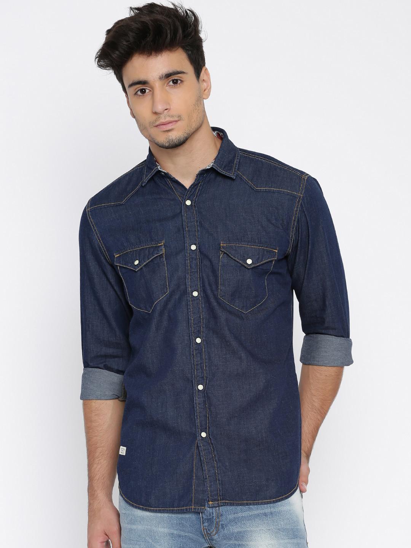Pepe jeans plain navy denim shirt g3 mcs3486 - Pepe jeans singapore ...