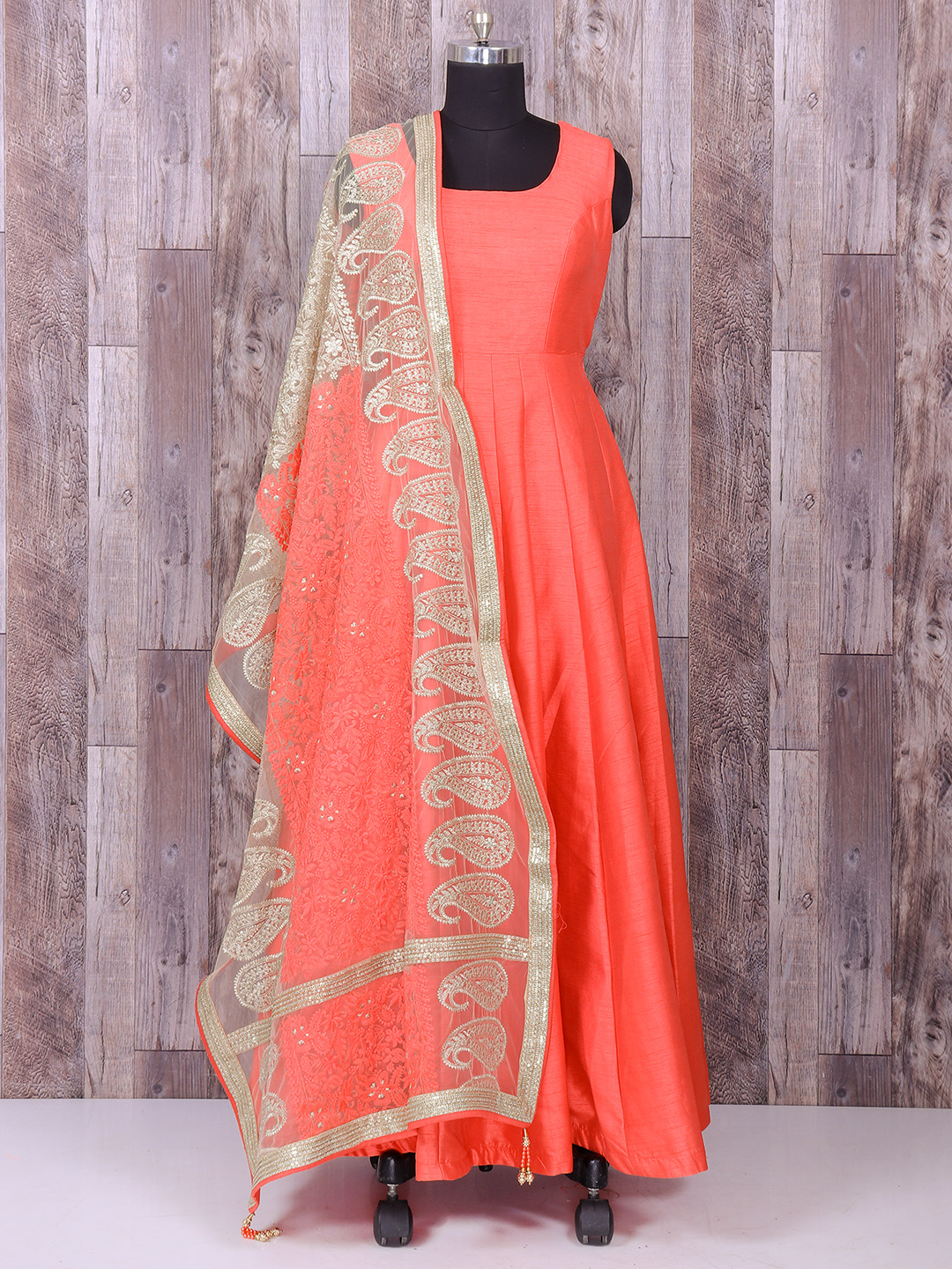 Pink Color Wedding Wear Silk Anarkali Suit G3 Wss25079