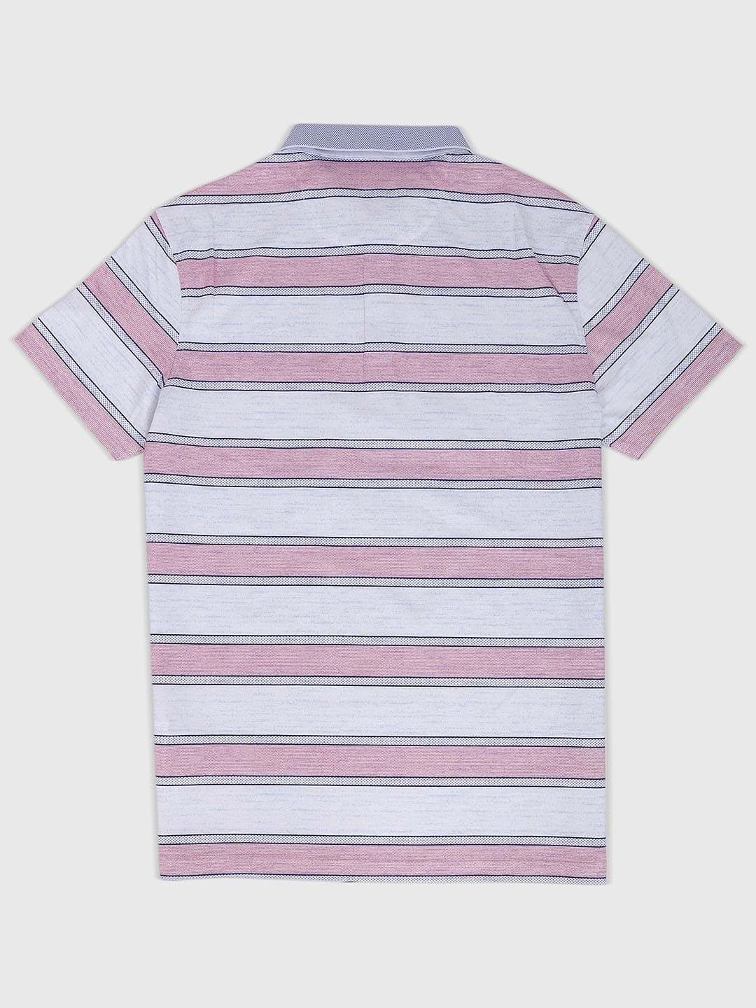 eaea81cad4fccd Psoulz pink and off white striped t-shirt - G3-MTS7811