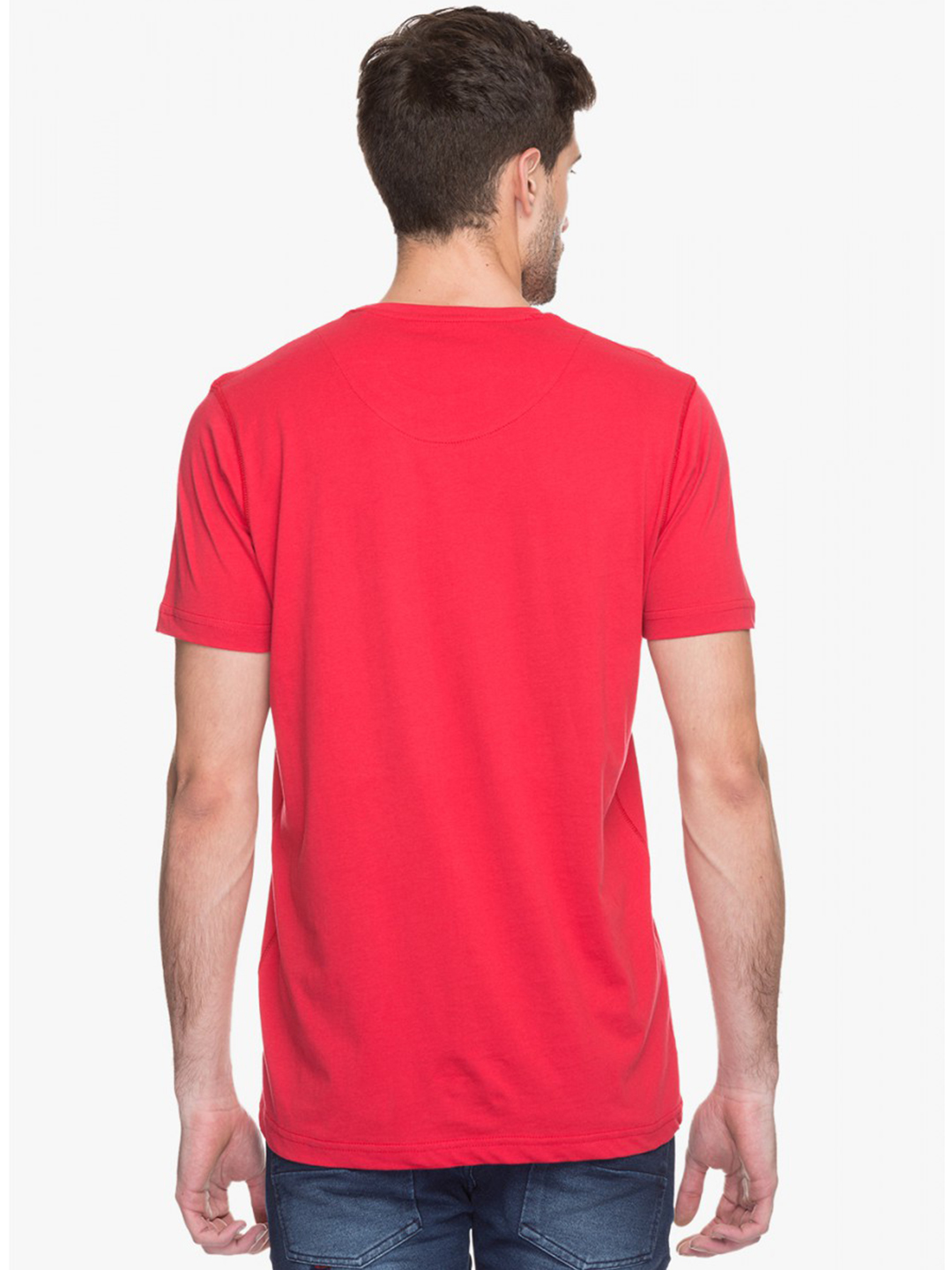 Status Quo Slim Fit Casual Wear Cotton Mens Red Printed T Shirt - G3-MTS4018 | G3fashion.com