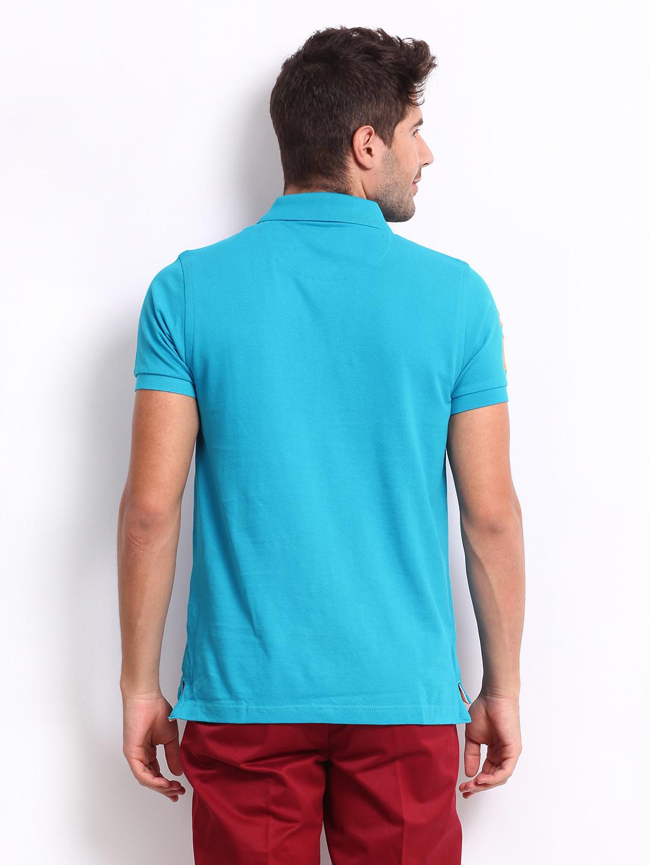 U s polo blue cotton polo t shirt g3 mts5368 for Cotton on polo shirt