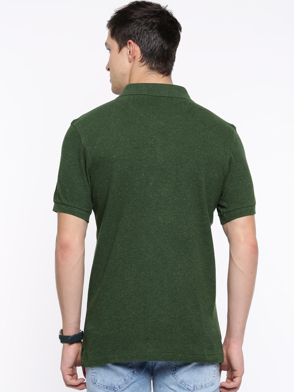 U s polo dark green color polo t shirt g3 mts5820 for Dark green mens polo shirt