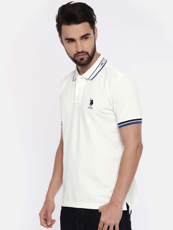 U S Polo off white plain t-shirt - G3-MTS7554 | G3fashion.com