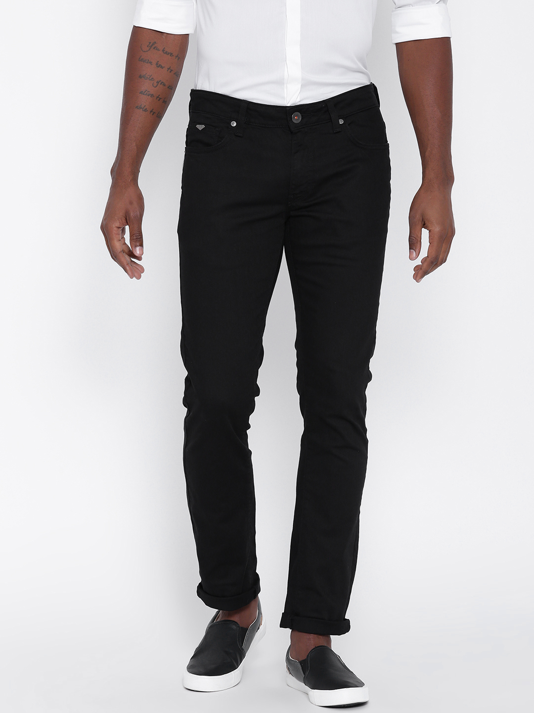 UCB plain black casual wear denim jeans - G3-MJE1515 | G3fashion.com
